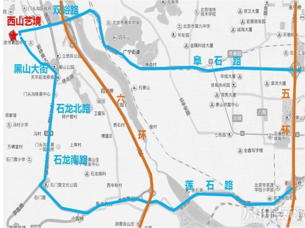 西山风景区游览路线图